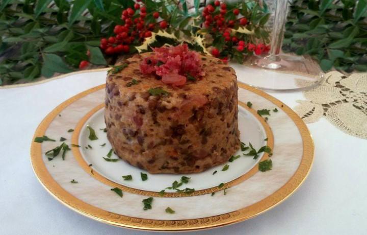 Tortini di Capodanno con cotechino e lenticchie
