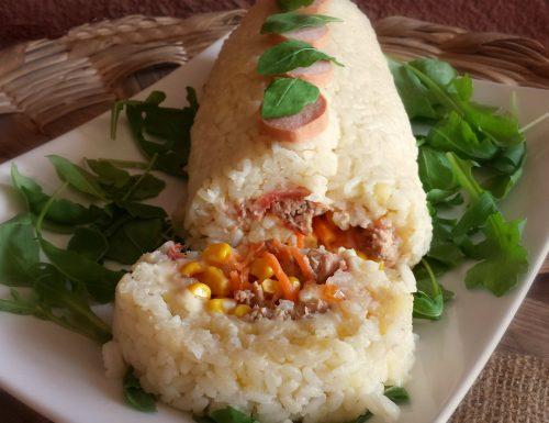 Rotolo di riso, insalata di riso freddo