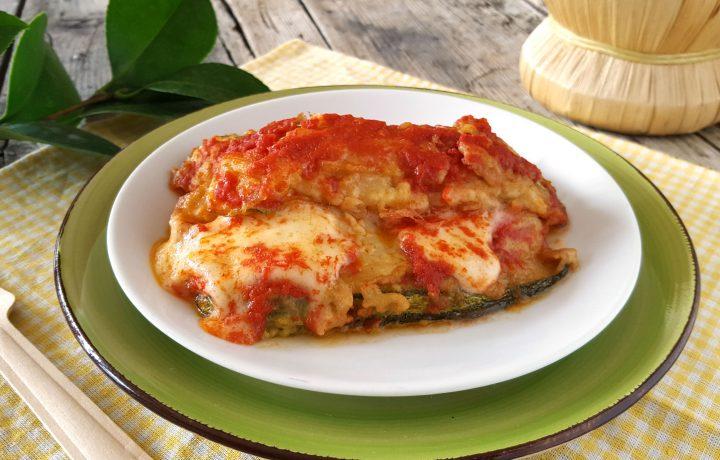 Parmigiana di zucchine, cremosa con cottura in padella