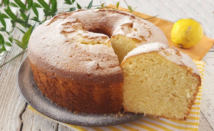 Chiffon cake al limone sofficissimo ciambellone americano