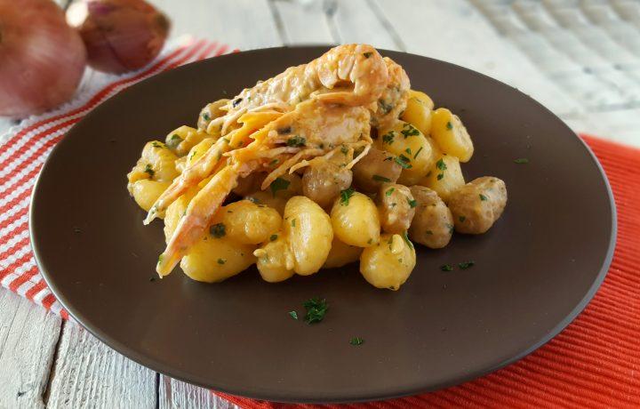 Gnocchi di patate alla crema di scampi senza panna