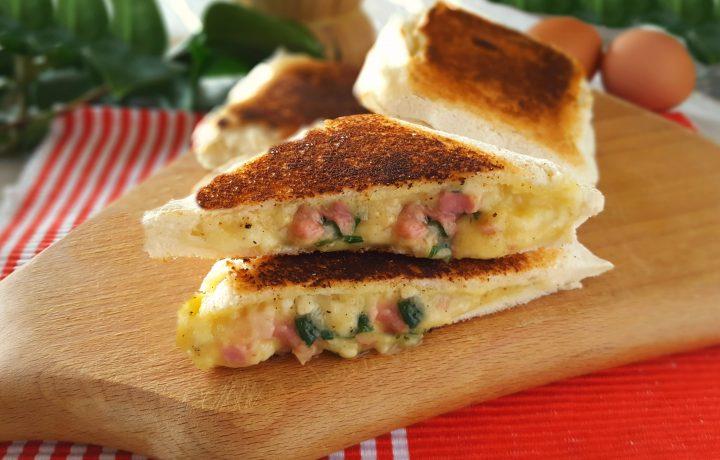Toast alla carbonara