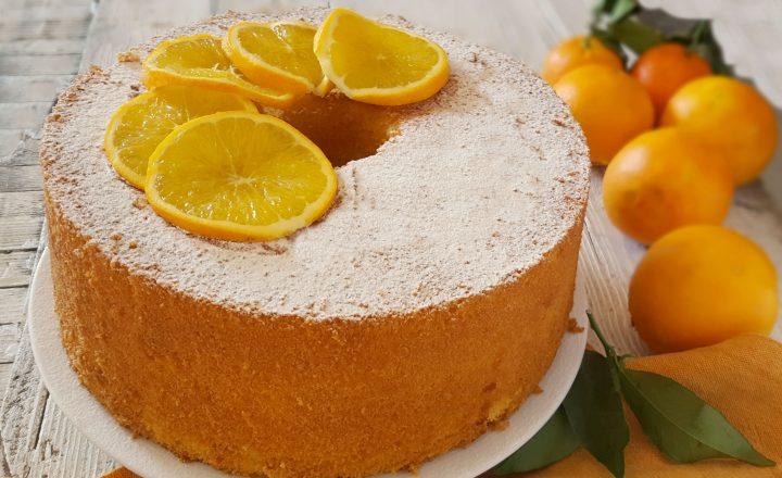 Chiffon cake all'arancia golosa versione del ciambellone americano