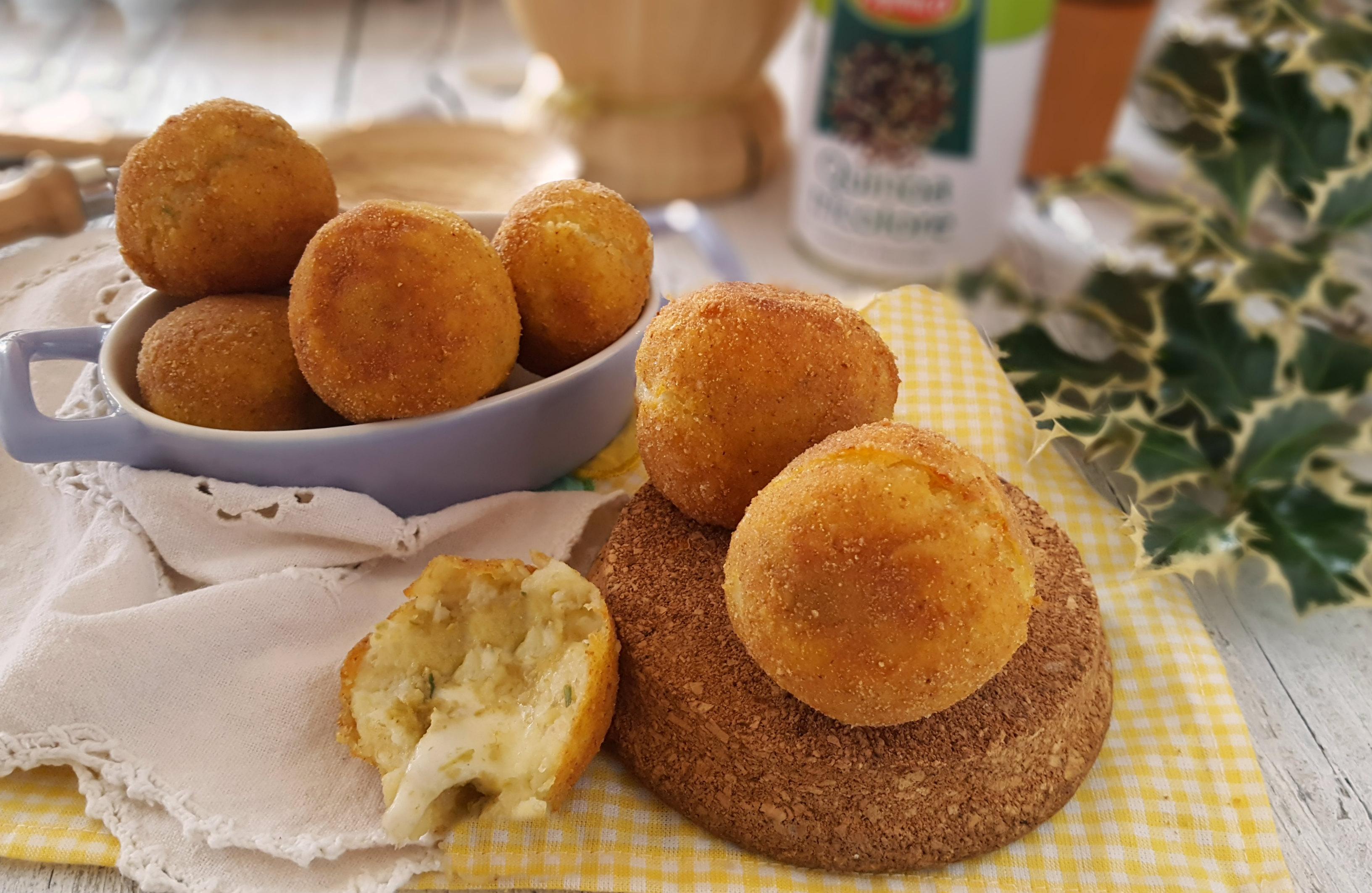 Crocchette patate e quinoa al profumo di olive