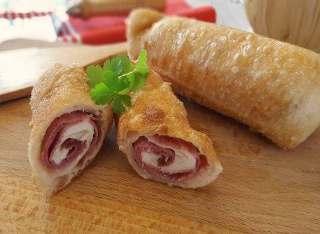 Sigari rustici salame e mozzarella gustosa rosticceria