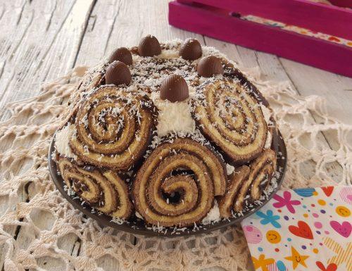 Cheesecake girella al cocco