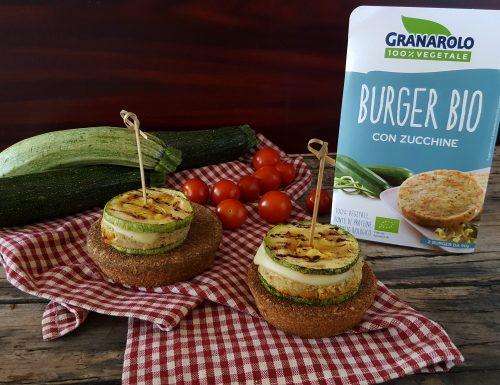 Toast burger vegano