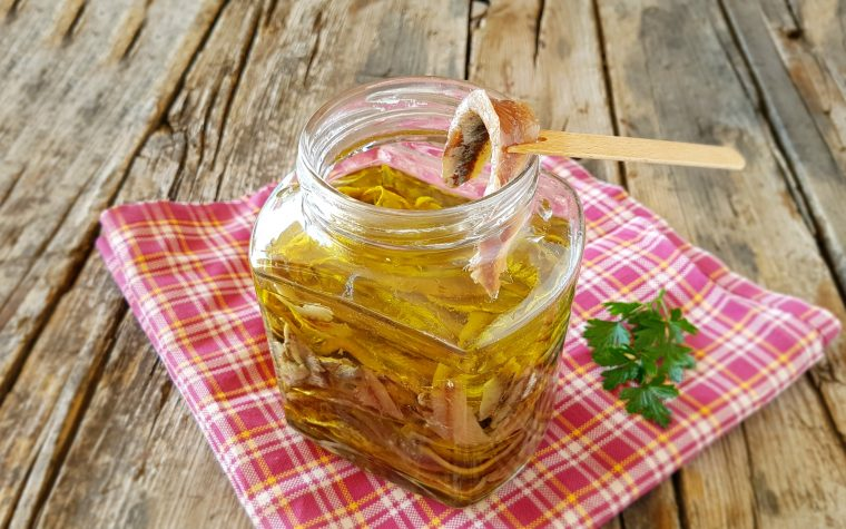 Alici salate sott'olio