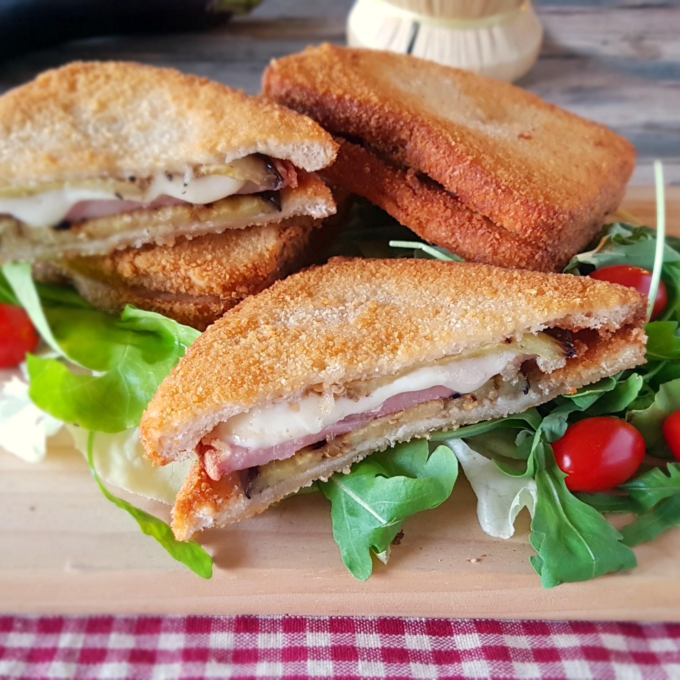 Ricetta Melanzane In Carrozza.Melanzane In Carrozza Gustosi Cremosi E Filanti Sandwich