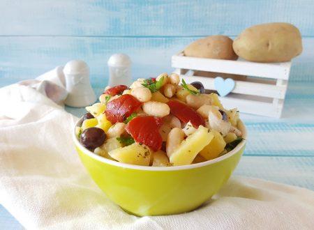 Insalata patate fagioli e peperoni