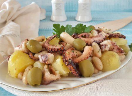 Insalata di polpo patate e fagioli gustoso piatto