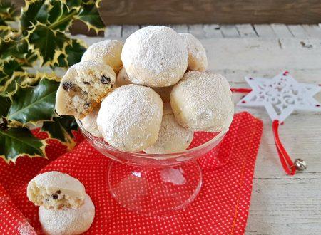Snowball cookies senza uova e senza lievito