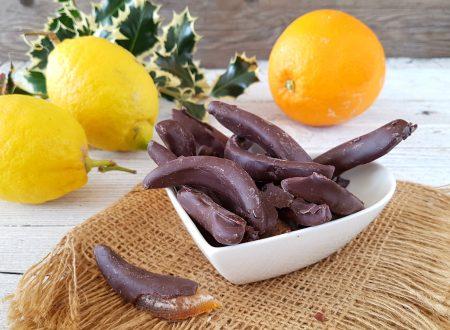 Scorzette di arancia e limone al cioccolato