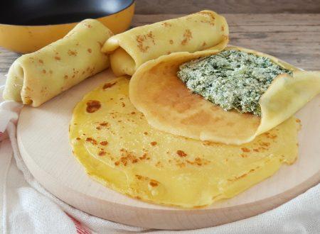 Cannelloni di crepes ricotta e spinaci senza uova