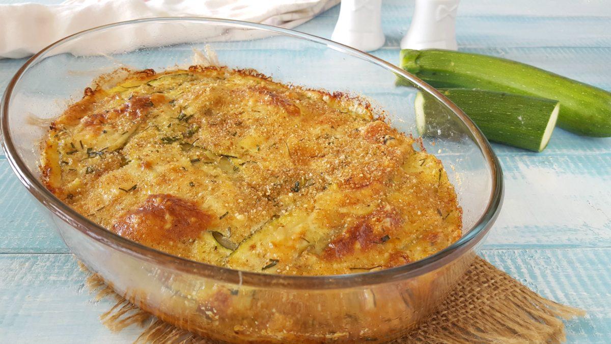 sformato di patate e zucchine a crudo
