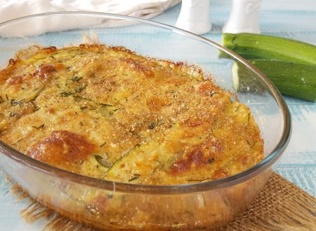 Sformato di patate e zucchine a crudo gratinato al forno