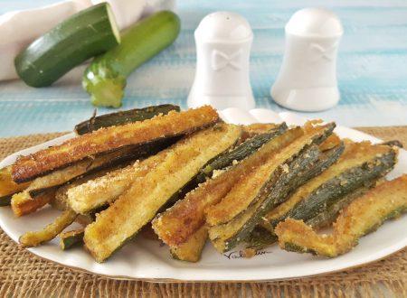 Stick di zucchine gratinati al forno