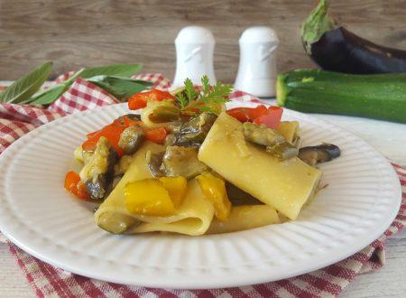 Paccheri alle verdure tanti sapori in un piatto