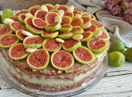 Torta ischitana fichi e mandorle soffice e cremosa