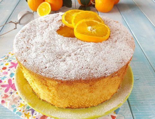 Chiffon cake all'arancia una nuvola di bontà