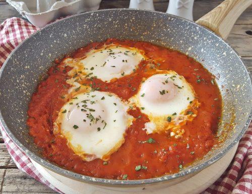 Uova in purgatorio piatto povero ma gustoso