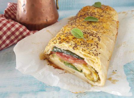 Strudel zucchine e salame pronto in 20 minuti