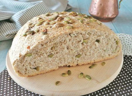 Pane ai semi di zucca e cipolle profumato e soffice