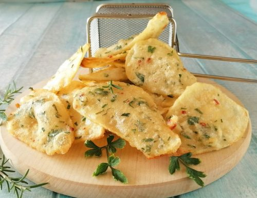Sfoglie di patate in pastella asciutte e croccanti