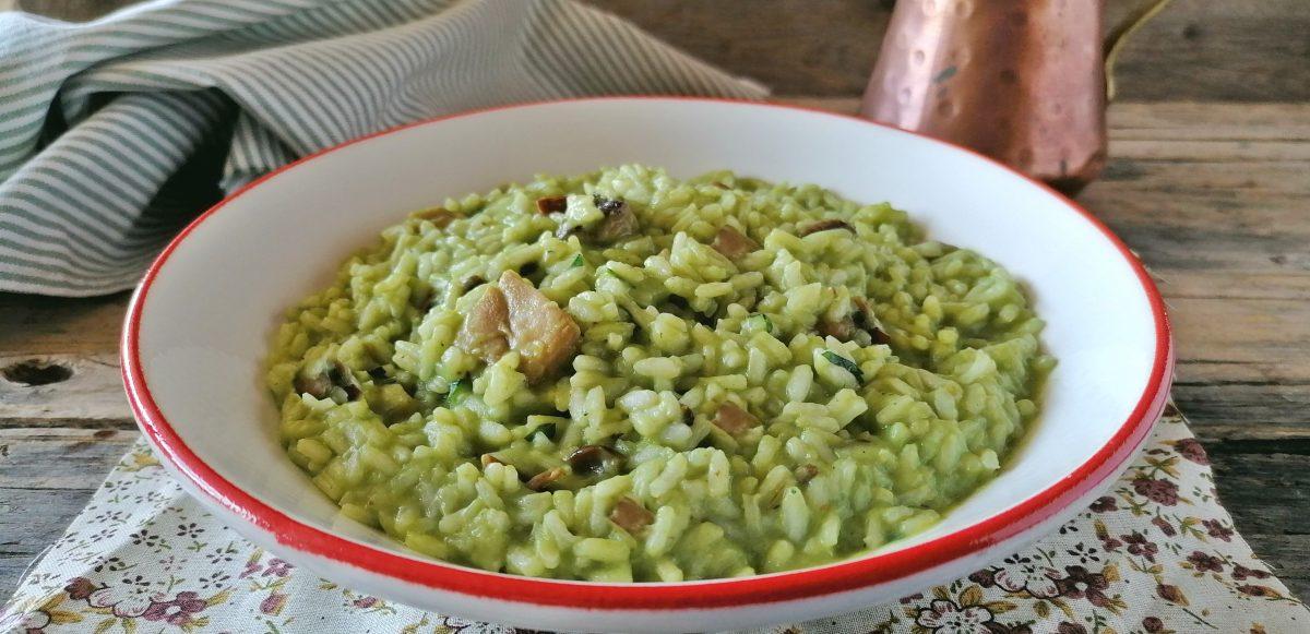 risotto crema di broccoli e funghi