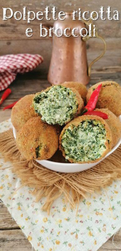 polpette ricotta e broccoli