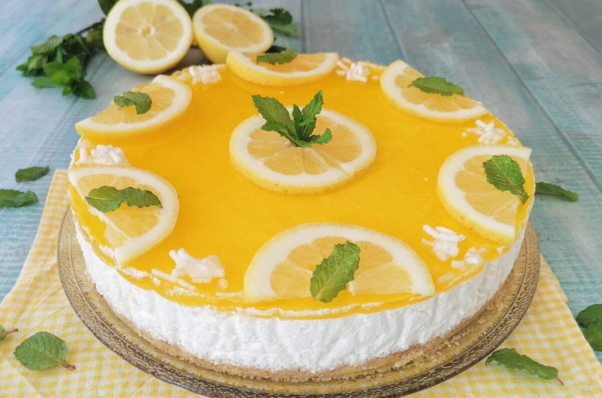 torta fredda al limone e yogurt