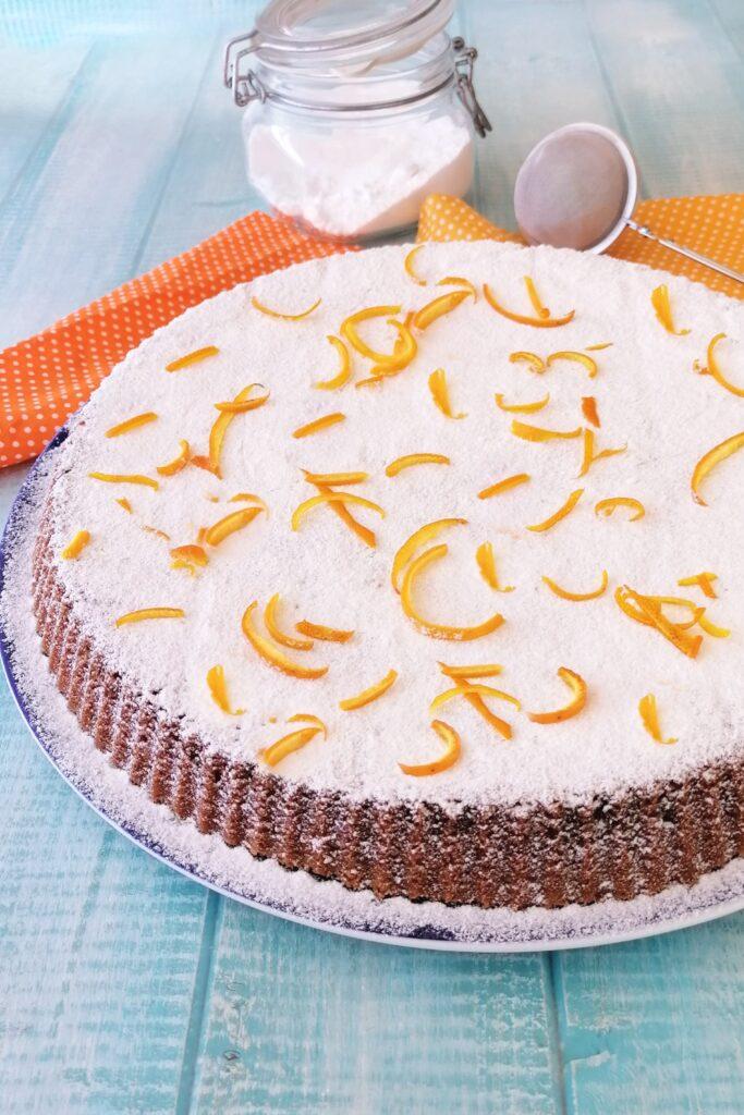 torta caprese all'arancia