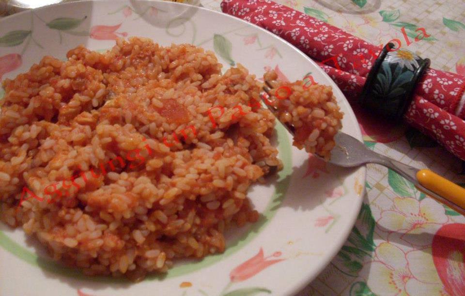 Riso con ragu di pesce ricetta vegetariana aggiungi un for Pesce chicco di riso