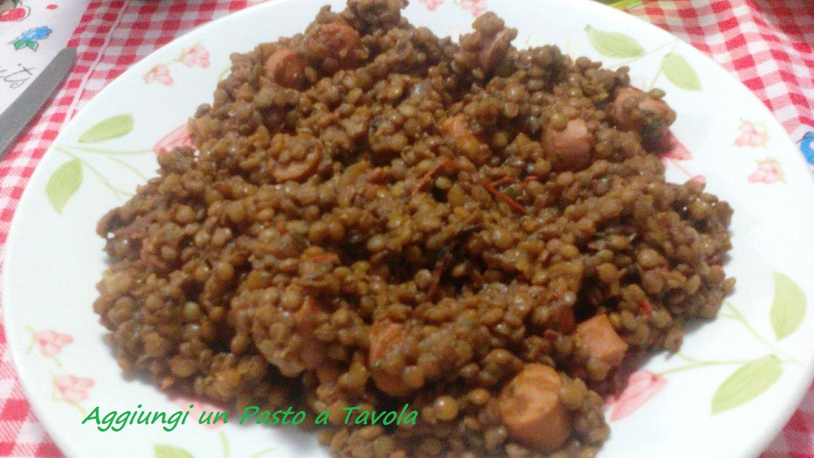 Lenticchie e wurstel: ricetta golosa