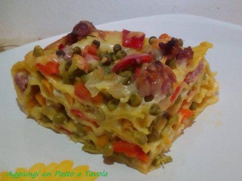 Lasagne salsiccia e verdure