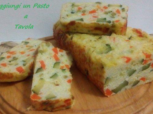 Plumcake di riso con formaggi e verdure