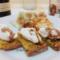 Crostini con mousse di parmigiano reggiano