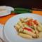 Pasta con zucchine peperoni e crema di gorgonzola