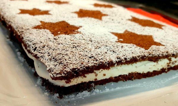 Torta Fetta Di Cacao Al Latte