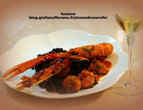 crostacei in umido: scampi e gamberi imperiali