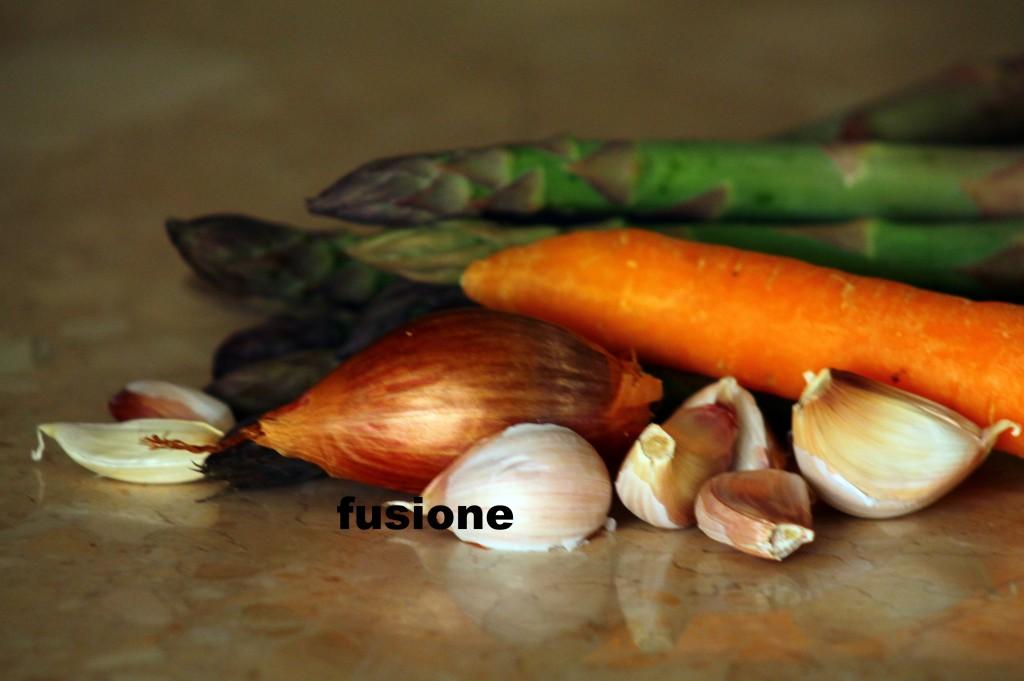 aglio, carota, scalogo e asparagi
