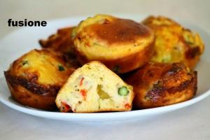 mini muffin salati agli asparagi
