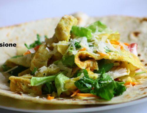 insalata veloce sfiziosa, finte tagliatelle e insalata mista