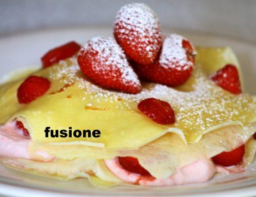 torta di fragole – crêpes alla mousse di fragole