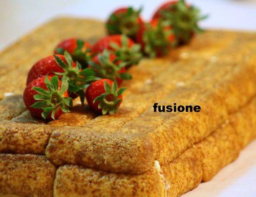 dolce semifreddo al mascarpone e fragole