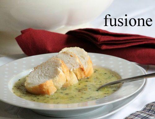 zuppa zucchine basilico e patate