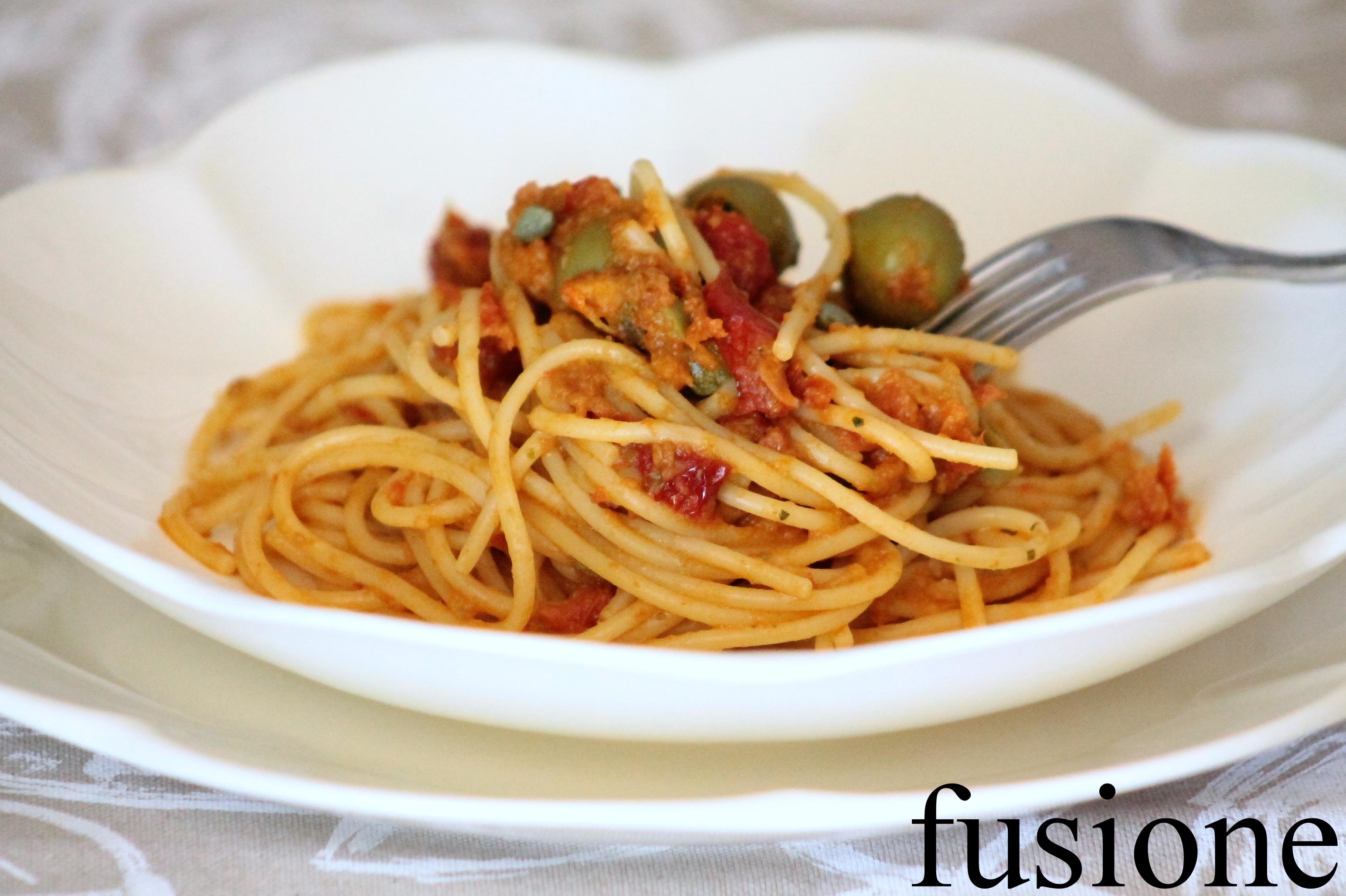 spaghetti pesto pomodori secchi