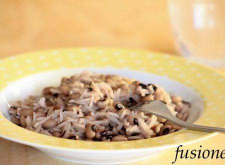 minestra di riso e fagioli dall'occhio