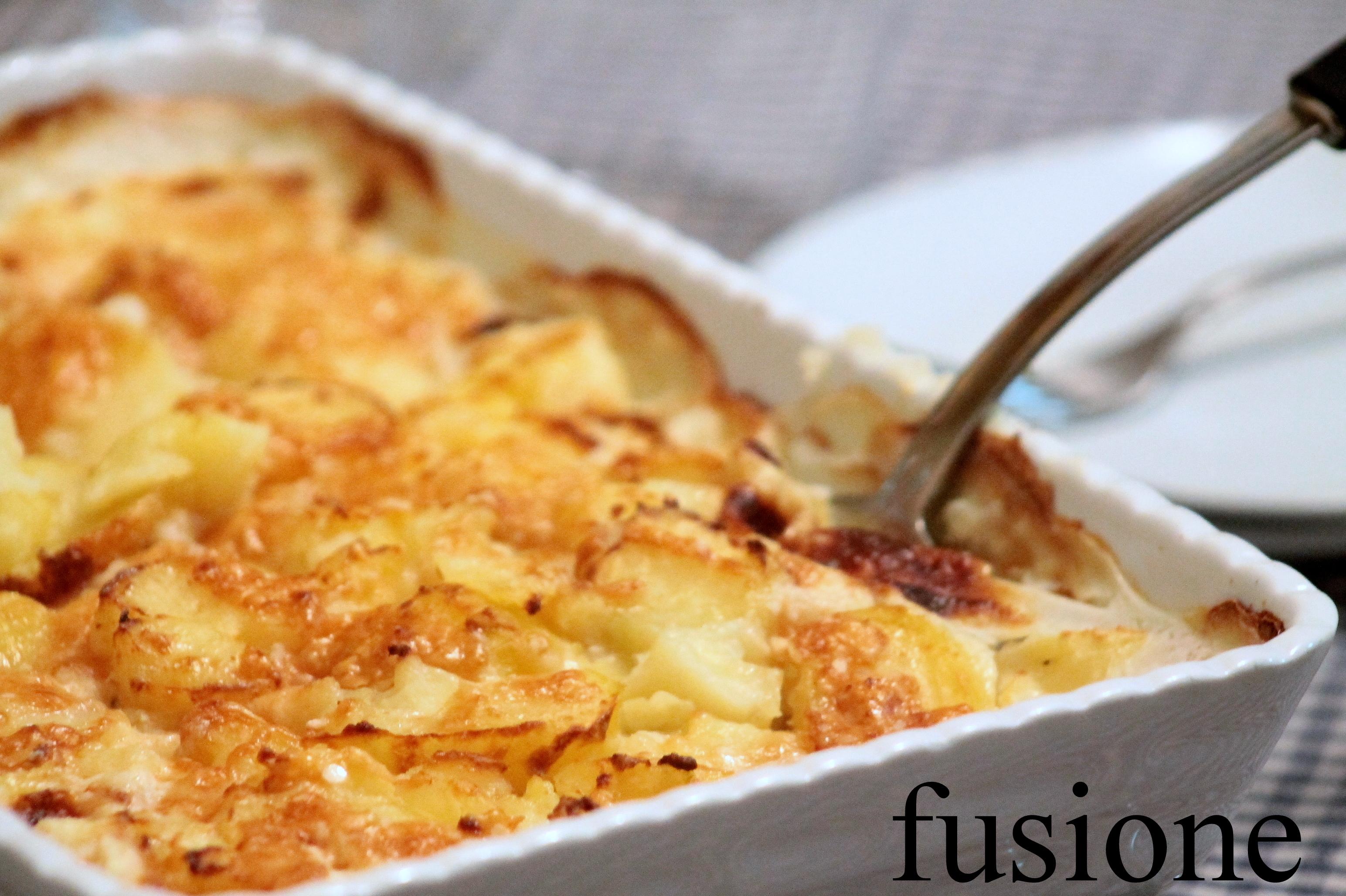patate lesse gratinate