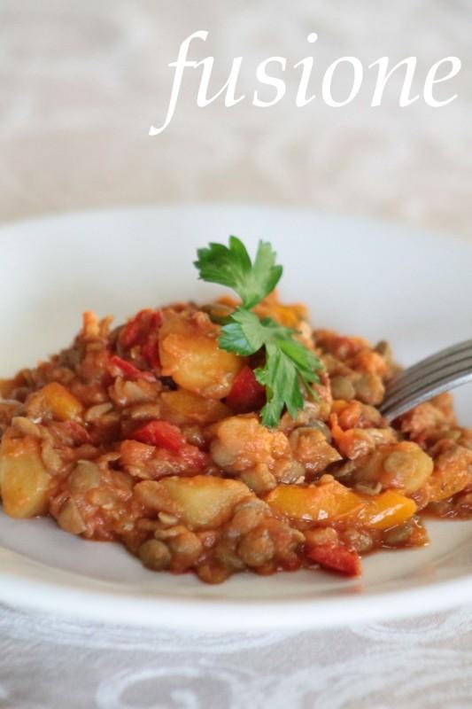 lenticchie con patate in umido